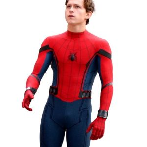 Tom Holland on the set of Spider Man