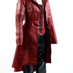 Elizabeth Olsen Wanda Maximoff Scarlet Witch Coat