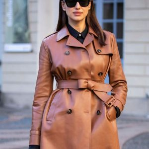 Irina Shayk Street Fashion Trench Coat