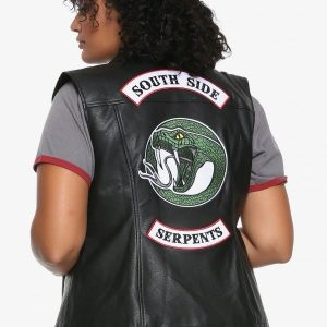 Riverdale Southside Serpents Studded Leather Vest