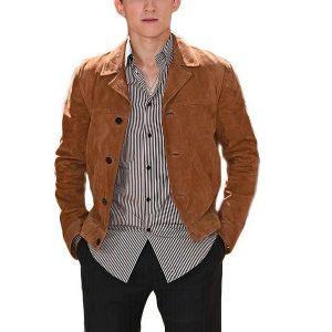 Tom Holland Brown Suede Brown Leather Jacket