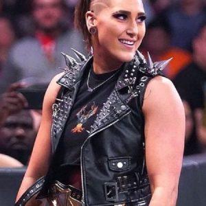 WWE Rhea Ripley Studded Leather Vest