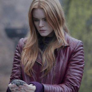 Abigail Cowen Fate: The Winx Saga Bloom Peters Leather Jacket