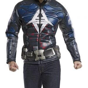 Game Arkham Knight Muscle Chest Costume Jacket