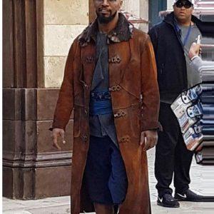 Robin Hood Yahya John Jamie Foxx Brown Coat