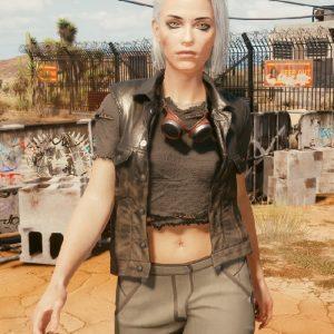 Video Game Cyberpunk 2077 Ciri Leather Vest