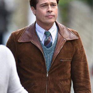Brad Pitt Allied Brown Suede Jacket