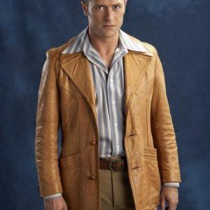 Jason O'Mara Life on Mars Detective Sam Tyler Tan Brown Leather Coat