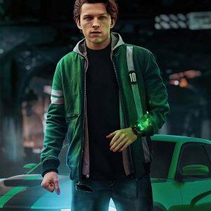Tom Holland Ben 10 Green Bomber Jacket