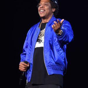 American rapper Songwriter Jay Z Blue Bomber Jacket