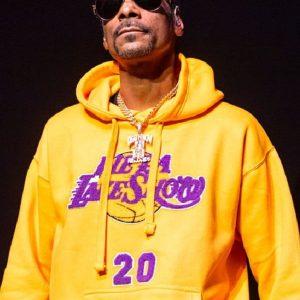 American Rapper Singer Snoop Dogg Yellow Hoodie