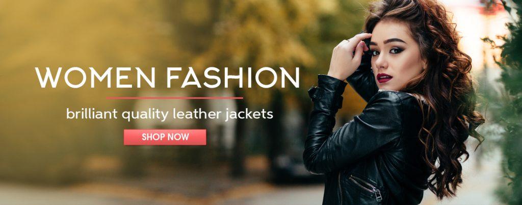 Women Fashion Jackets Banner filmstarjacket