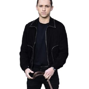 Tom Holland Black Cotton jacket