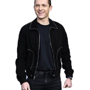 Tom Holland Elegant Black Cotton jacket
