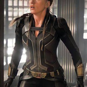 Scarlett Johansson Wear Costume In Black Widow