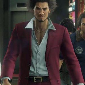 Ichiban Suit Wearing Maroon Suit In Yakuza Like a Dragon