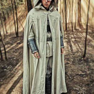 Daniel Lasker Wearing Cape Cloak In Raised by Wolves as Furfur