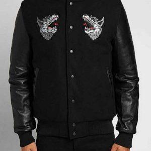 Raised By Wolves Souvenir Redux Black Varsity Jacket