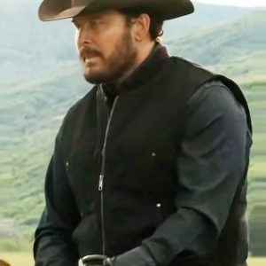 Cole Hauser Wearing Black Vest In Yellowstone Series