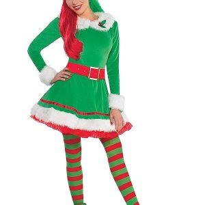 A Young Women Wearing Elf Green Costume
