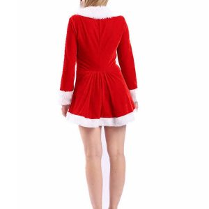 Sexy Miss Santa Costumes Red Dress Women Christmas Clothing